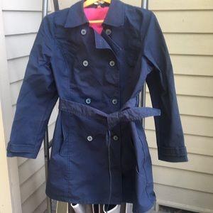 XL OLD NAVY trench coat washable belted EUC pocket